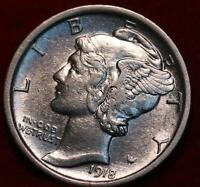 UNCIRCULATED 1918 PHILADELPHIA MINT SILVER MERCURY DIME