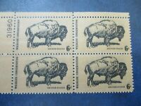 BUFFALO/AMERICAN  BISON PLATE BLOCK OF 4 1392
