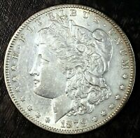 1879 O MORGAN SILVER DOLLAR  ABOUT UNCIRCULATED  GREAT FOLDER FILLER 120