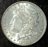 1879 P MORGAN SILVER DOLLAR  ABOUT UNCIRCULATED  GREAT FOLDER FILLER 121