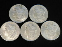 MORGAN SILVER DOLLARS LOT OF 5 CHAU-UNC. 1887P, 1889P, 1890P, 1896P, 1900P L5