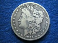 1899 O  MORGAN SILVER DOLLAR - LIGHT, LY TONED FINE