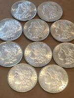 1880-1900 MORGAN SILVER DOLLAR HALF ROLL 10 DIFFERENT DATES/MINT MARKS BU COINS