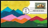 FDC LEWIS AND CLARK GREAT FALLS MONTANA 2004 HAND PAINTED CA