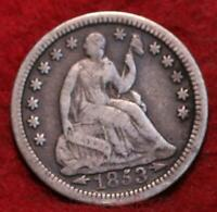 1853 O NEW ORLEANS MINT SEATED LIBERTY SILVER HALF DIME