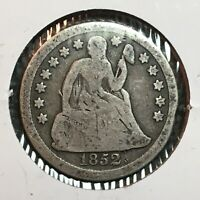 1852  VG   SEATED LIBERTY DIME