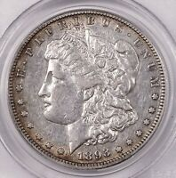 1893-S MORGAN $1 PCGS CERTIFIED EXTRA FINE 45 KEY DATE SAN FRANCISCO SILVER DOLLAR COIN