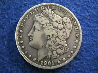 1901 S MORGAN SILVER DOLLAR -  - LY TONED FINE