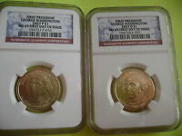2007 WASHINGTON P&D NGC MINT STATE 65 FIRST DAY ISSUE CIRCULATION STRIKE 2-COIN DOLLAR SET
