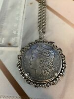 1884 MORGAN SILVER DOLLAR NECKLACE