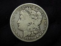 1879-S MORGAN SILVER DOLLAR REV 78 AG/G PROBLEM FREE