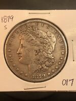 1879 S REV 78 $1 MORGAN SILVER DOLLAR  TOP 100 LOT 017 REVERSE OF 1878