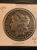1879 S REV 78 MORGAN SILVER DOLLAR  TOP 100 LOT 3 REVERSE OF 1878