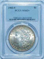 1902 S PCGS MINT STATE 63 MORGAN SILVER DOLLAR