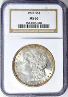 1903-P MORGAN SILVER DOLLAR - NGC MINT STATE 66 - EXCELLENT