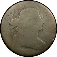 1801 1C DRAPED BUST LARGE CENT S 220 1/000 FRACTION RARE OLD
