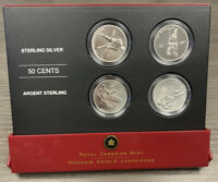 2005 CANADA STERLING SILVER 50 CENT 4 COIN SET   NHL TORONTO