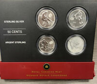 2005 CANADA STERLING SILVER 50 CENT 4 COIN SET   NHL MONTREA