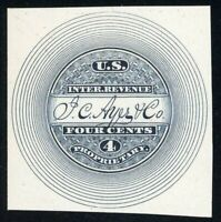 RS10P4 J.C. AYER & CO PROPRIETARY PLATE PROOF ON CARD SCOTT