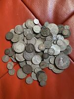 WORLD LOTS OF SILVER COINS SCRAPIE COLLECT 1000 GRAMS