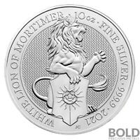 2021 SILVER GREAT BRITAIN QUEEN'S BEASTS  THE WHITE LION    10 OZ