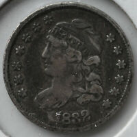 1832 H10C CAPPED BUST HALF DIME TYPE COIN CIRCULATED FINE
