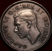 1946 CANADA SILVER 50 CENTS FOREIGN COIN