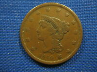 1840 US BRAIDED HAIR LARGE CENT ONE CENT COIN LARGE DATE