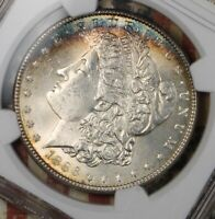 1886 MORGAN SILVER DOLLAR NGC MINT STATE 63 COLLECTOR COIN. SHIPS FREE