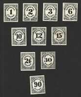 USA O47P O56P 1873 OFFICIAL STAMP POST OFFICE 10V PROOFS IN