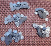 5 ROLLS 200  INDIAN HEAD BUFFALO NICKEL COIN 1920'S  PART READABLE DATES