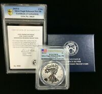 2019 S FIRST STRIKE AMERICAN SILVER EAGLE ENHANCED REVERSE PROOF PCGS PR 70356