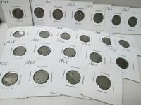 LOT OF 22 1853 US LARGE CENT COIN