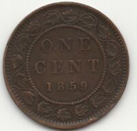 1859 DOUBLE PUNCH 9 CANADA  CENT