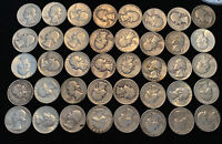 WASHINGTON QUARTERS 90  SILVER $10 FACE VALUE ROLL OF 40