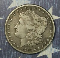 1901-O MORGAN SILVER DOLLAR COLLECTOR COIN. SHIPS FREE
