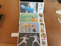 GB 2012 STAMP & 50P COIN COVERS X 4  LONDON OLYMPICS  OC389