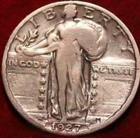 1927 S SAN FRANCISCO MINT SILVER STANDING LIBERTY QUARTER