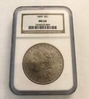 NGC 1899 S$1 MINT STATE 64 MORGAN SILVER DOLLAR AMAZING