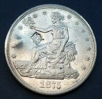 1875 CC TRADE DOLLAR AU  DETAILS CHOPMARK/CLEANED  CARSON CI