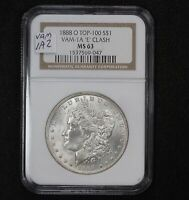1888-O MORGAN DOLLAR VAM-1A2 CLASHED E NGC MINT STATE 63 TOP 100 0WWQ