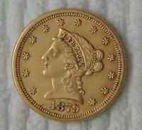 1879 LIBERTY HEAD GOLD QUARTER EAGLE $2.5 UNCIRCULATED NICE