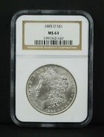 1885-O $1 MORGAN SILVER DOLLAR - NGC MINT STATE 63