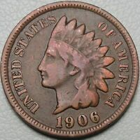 1906 1C INDIAN CENT IHC INDIAN HEAD PENNY COPPER 14654