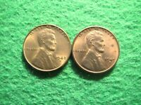 1948 S & 1949 S LINCOLN  CENTS - BRIGHT UNCIRCULATED WITH SOME LIGHT TONING