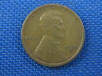 1921 S U.S. LINCOLN WHEAT CENT COIN