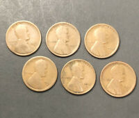 LOT 6 LINCOLN WHEAT CENT PENNY - 1910S 1911S 1912S 1913S 1914S 1916S  /TNT51
