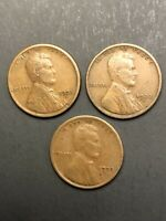 LOT 3 LINCOLN WHEAT CENT PENNY - 1921S 1922D 1923S      /TNT83