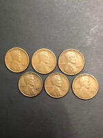 LOT 6 LINCOLN WHEAT CENT PENNY - 1921S 1923S 1924S 1925S 1926S 1927S  /TNT98