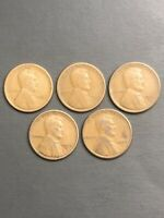 LOT 5 LINCOLN WHEAT CENT PENNY - 1921S 1922D 1923S 1924S 1925S  /TNT103